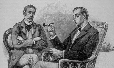 Ilustración de Sherlock Holmes, un personaje extravagante pero de gran genialidad y que bien podría considerarse un Savant.